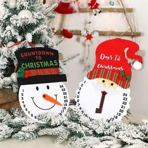 Christmas Calendars Snowman Non-Woven Felt Clock Advent Countdown Ornaments Gift