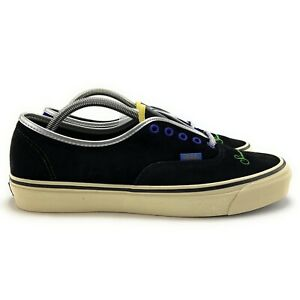 Vans Men's OG Authentic LX Sinner's Club Black Yellow Skate Shoes Size 8.5