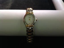 Pulsar Gold and Silver Tone Oval Fave Link Band Wrist Watch 7.25 inches Long