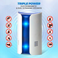 Ultrasonic Electronic Plug Rat Mice Spider Mouse Insect Pest Repeller Deterrent