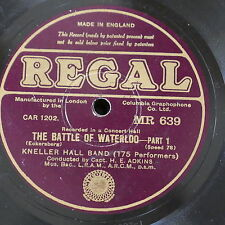 78 rpm KNELLER HALL BAND the battle of waterloo - h e adkins
