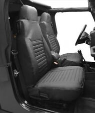 Jeep Wrangler TJ Set Seat Covers Front Black Denim Bestop 96-02
