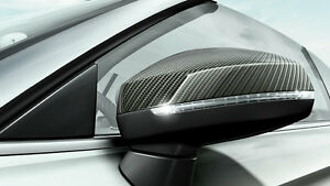 Genuine Audi Q8 Carbon Wing Mirror Covers (with side assist)