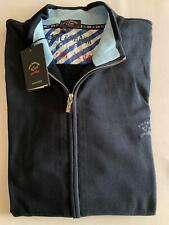 NEW Paul & Shark Yachting Jacket Sweater Lupetto Blusotto NAVY BLUE 5XL