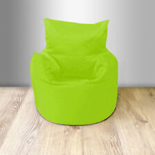 Lime Cotton Children's Kids Toddlers Filled Beanchair Bean Bag Chair with Beans