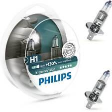 H1 Headlight Bulbs 130% HID Xenon Phillips Vision White Light Bulb Pack Of 2 55W