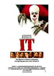 """STEPHEN KING'S """"IT""""  27x40"""" Movie Poster - Licensed   New   USA   1990"""