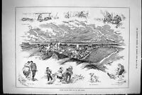 Old Sporting Dramatic News 1885 Epsom Downs Derby Horse Racing Specta Victorian