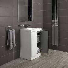 Floor Standing Bathroom Vanity Unit White Gloss Soft Close Alpine Duo 500 (4100)
