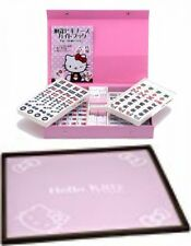 Sanrio Hello Kitty Mah Jong Tiles & Board Mat SET Mah-jongg game Japan EMS NEW