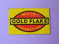 BASSETT LOWKE O GAUGE TINPLATE MODEL RAILWAY ADVERTISING SIGN WILLS GOLD FLAKE