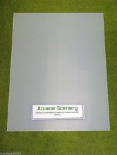 2 sheets of CLEAR Plasticard 40/000 Terrain & Scenery