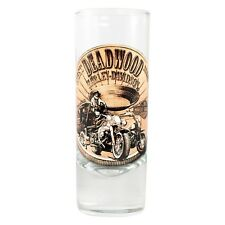 Deadwood Harley-Davidson® Bronze Coin Tall Shot Glass