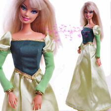 Nice Green Vintage European style EVENING SPLENDOR Dress Grown for 1/6 BJD Doll