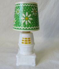 Vintage Avon Country Charm Pot Belly Stove Lamp Decanter Bottle Empty #6427