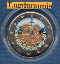 2 Euro Commémo Couleur Color Slovaquie 2013 Apotres Cyrille et Methode T I