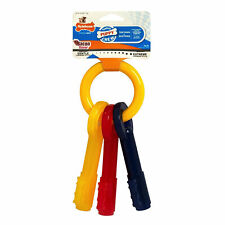 Nylabone Puppy Teething Key Ring X-Small | Bacon Flavored Chew Toy for Dogs