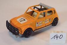 Majorette 1/60 Nr. 231 Citroen Dyane Rallye orange Startnummer 17 #140