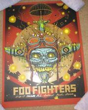 Foo Fighters concert poster print Wichita 11-13-17 2017 Munk One