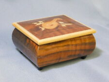 "Italian marquetry wooden Music Box w/ Swiss Reuge Movement plays "" Love Story """