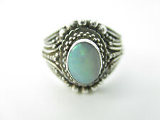 925 Sterling Silber Ring Opal Edelstein Modernist Vintage silver ring gem 18 mm