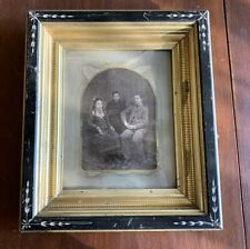 "Antique Black & Gold Eastlake Period Frame with Ancestral Photo 7 7/8"" X 10"""