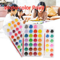 12/28/36 Colors Solid Watercolor Paints Set Pigments Paint Box Art Drawing Tool