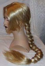 "Blonde Braided Braid Long Womens Wig Adjustable Lace Cap New Rapunzel 33"" Hair"