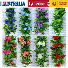 Rose Flower Ivy Vine Leaf Garland Party Wedding Home Decor Artificial Fake Silk