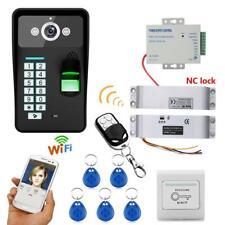 Video Door Phone Doorbell 720P Wireless WIFI RFID Fingerprint Intercom IR Led