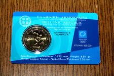 AV-VD Griechenland 2004 2 Euro Olympiade Athen  in Coincard HD19