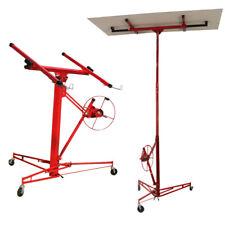 150lbs Drywall Hoist Plaster Board Panel 11ft Heavy Duty Lift Lifter Caster Tool