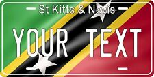 Saint Kitts and Nevis Flag Personalized Novelty Car License Plate