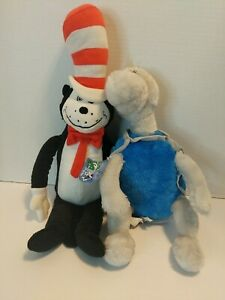 """Cat In The Hat Dr Seuss 22"""" Plush & Yertle the turtle plushies Kohls Cares NWT"""