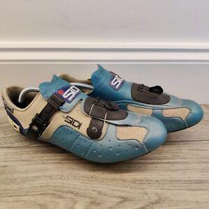 Sidi Tecno Professional Cycling Shoes Blue Black Mens Size 11 UK