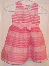 Toddler Girls CHILDRENS PLACE~PINK DRESS~size 4T~NWT~Striped LAYERED Lined~PARTY