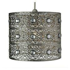 Turkish Moroccan Hanging Silver Ceiling Pendant Light Lamp Light SHADE ONLY