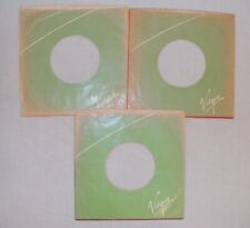 Job Lot  X 3 VIRGIN :  7'' record sleeves. Company Original Vintage. (ref314)