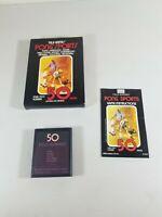 Atari 2600 Rare Pong Sports Sears Tele Games BOX Game and Manual Complete
