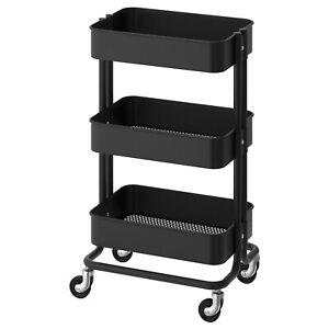 IKEA RASKOG Trolley Kitchen Cart Bathroom Storage Wheely Trolly Black White