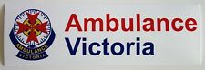 VICTORIA AMBULANCE SERVICE BUMPER STICKER DECAL 218x70mm