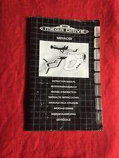 Manual Instrucciones Menacer Mega Drive