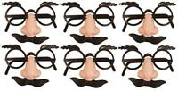 Pack of 6 - Disguise Face Mask Sets Top Secret Detetctive Spy Party Bag Fillers