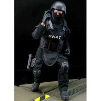 "1/6 Soldier SWAT Black Uniform Military Army Suit Toys Model 12"" Action Figures"