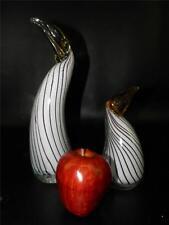 PAIR OF MURANO ART GLASS BIRDS PENGUINS