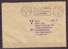 Postschekamtsbrief mit Freistempler bitte lesen