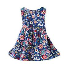 Summer Girls Sleeveless Dress Kids Baby Party Pageant Sundress Dresses 100