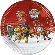 PAW PATROL PACK OF 8 PARTY PLATES 22CM MARSHALL CHASE RUBBLE SKYE NEW GIFT