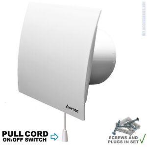 "100mm 4"" White Extractor Fan  PULL CORD  Switch  Bathroom Kitchen Escudo WEB100W"