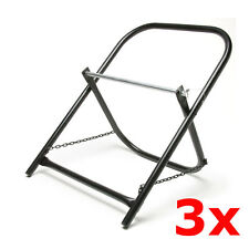 3 Pack Lot Portable Steel Folding Cable Caddy Reel Spool Holder Tube Wire Puller